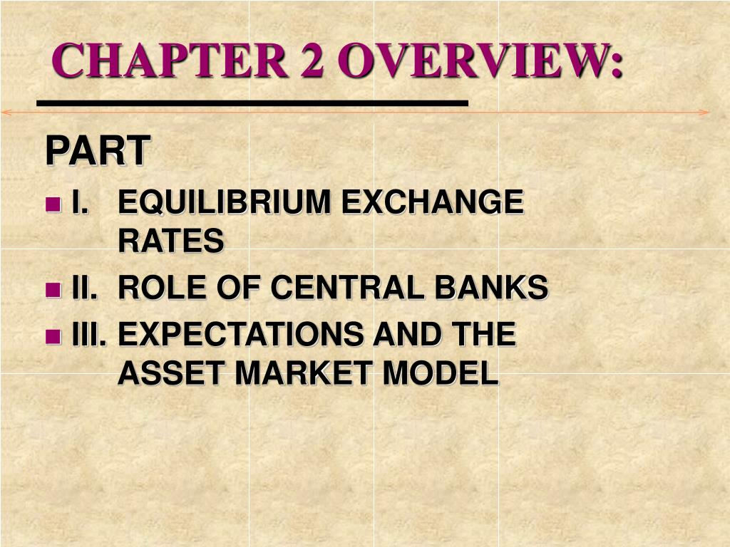 CHAPTER 2 OVERVIEW: