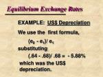 equilibrium exchange rates12