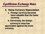 equilibrium exchange rates8