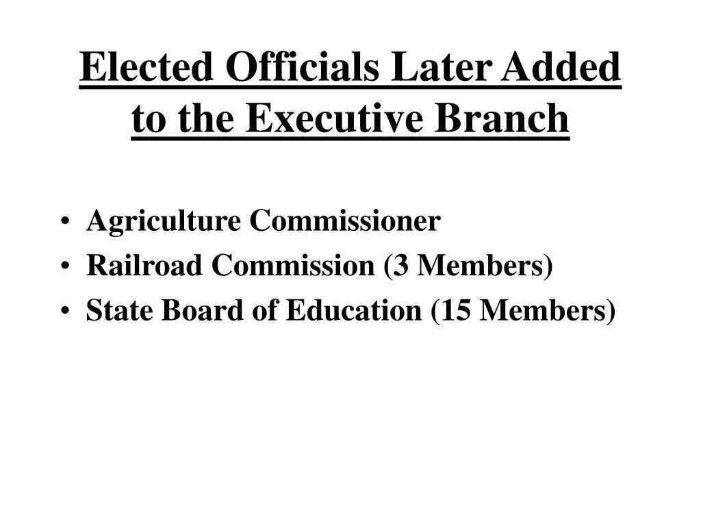 plural executive