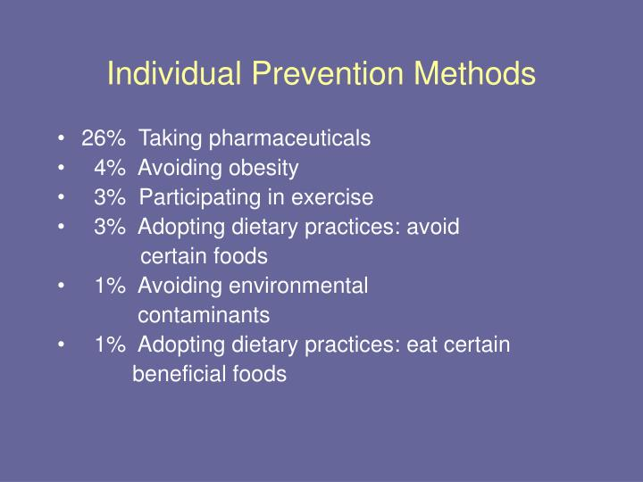 Individual Prevention Methods