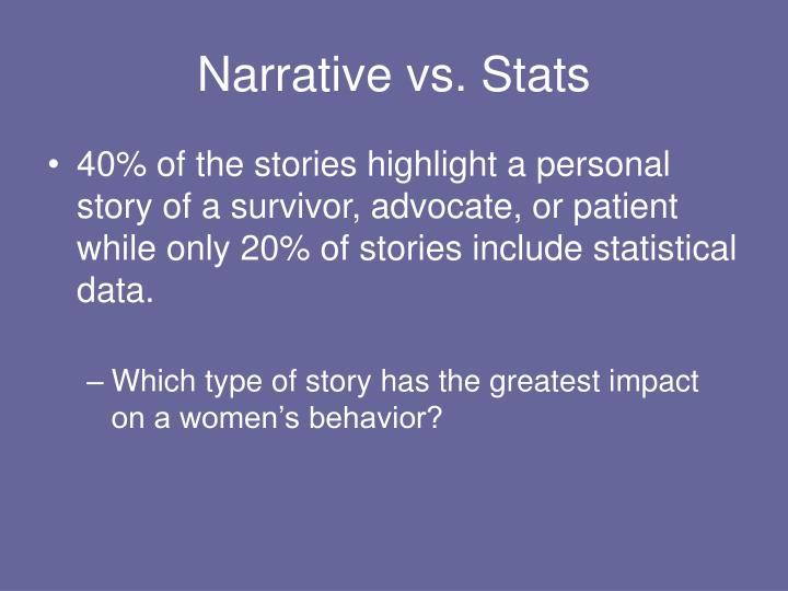 Narrative vs. Stats