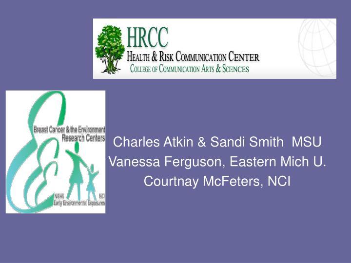 Charles Atkin & Sandi Smith  MSU