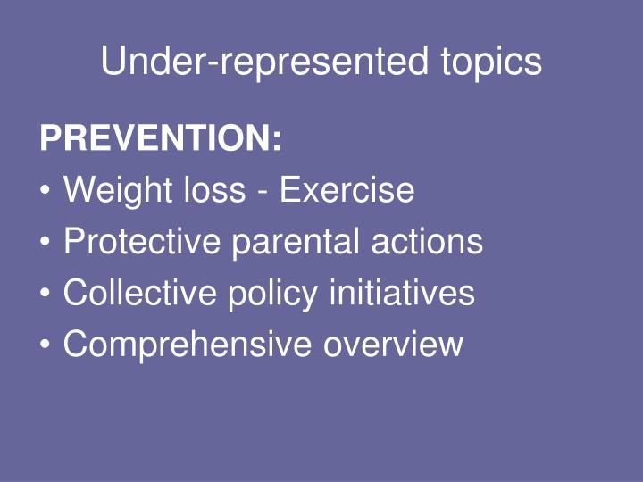 Under-represented topics