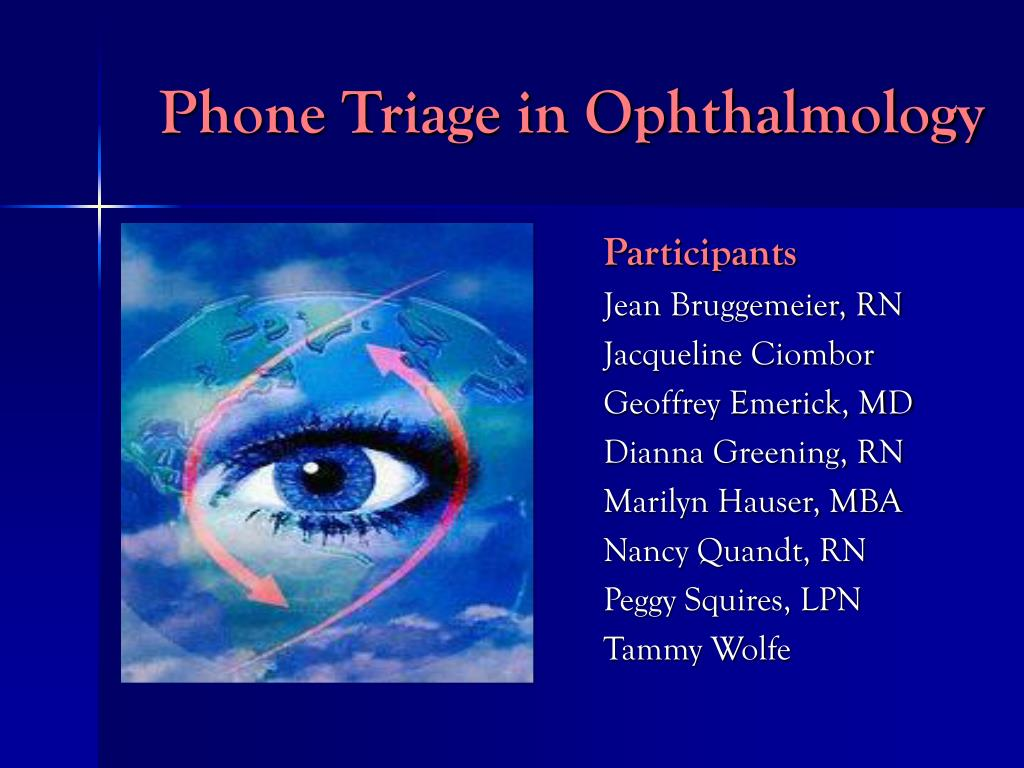 Phone Triage in Ophthalmology