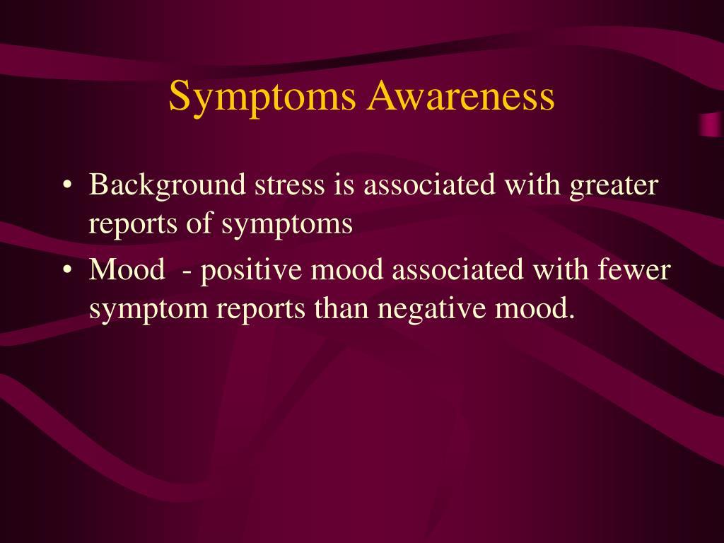 Symptoms Awareness