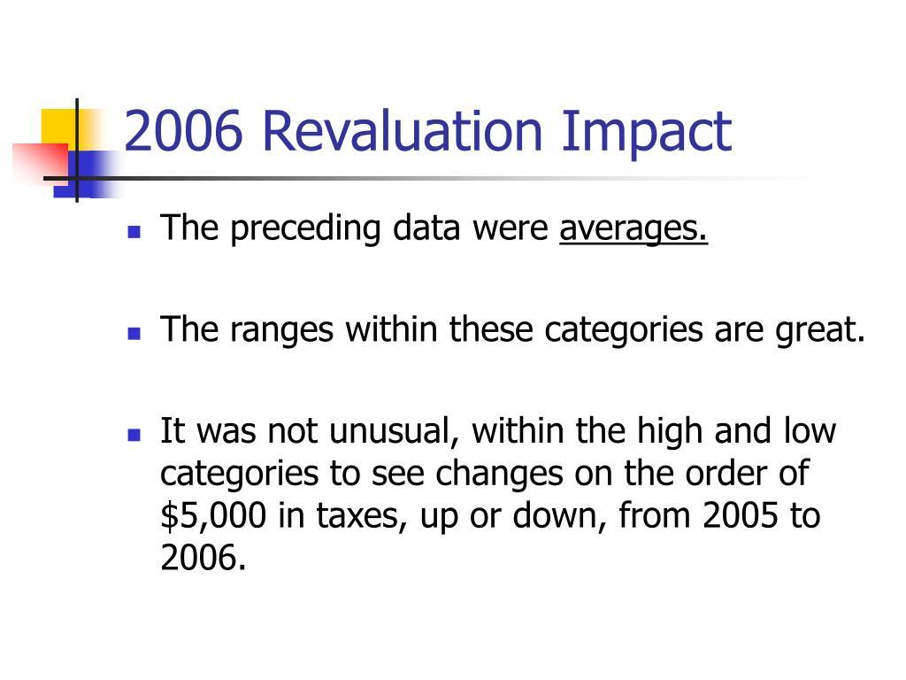 2006 Revaluation Impact