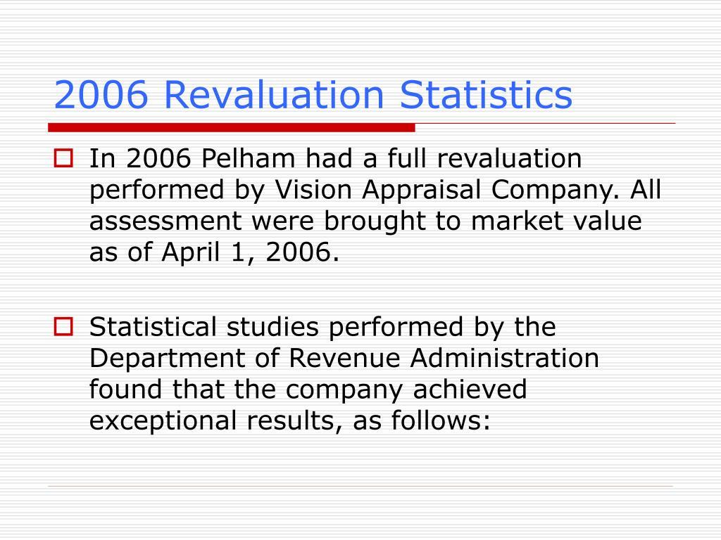2006 Revaluation Statistics