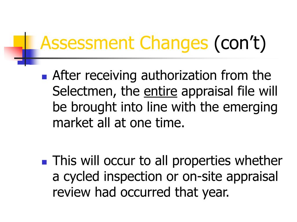 Assessment Changes