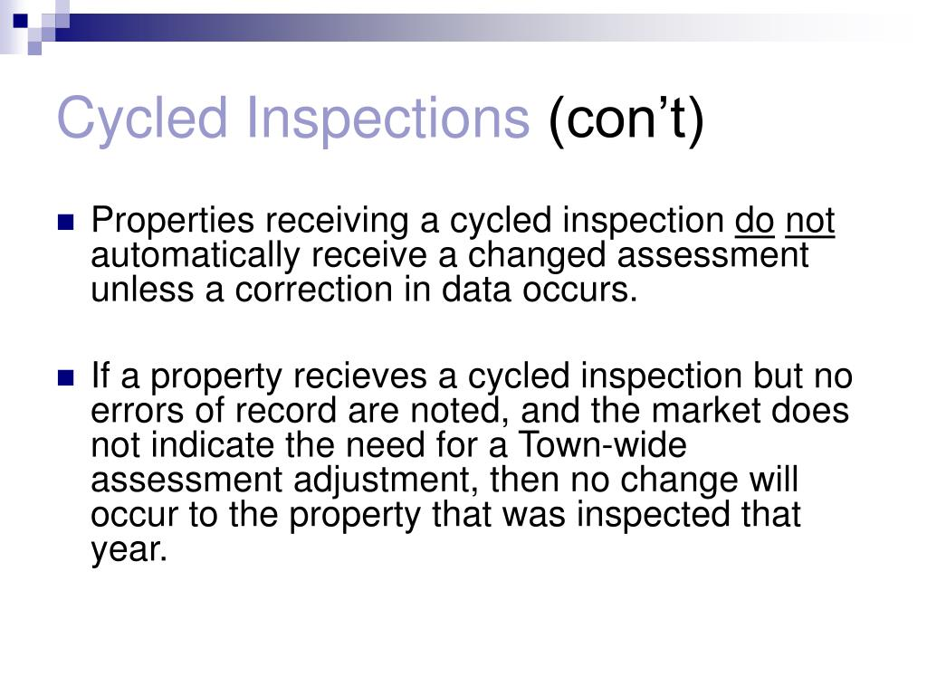Cycled Inspections