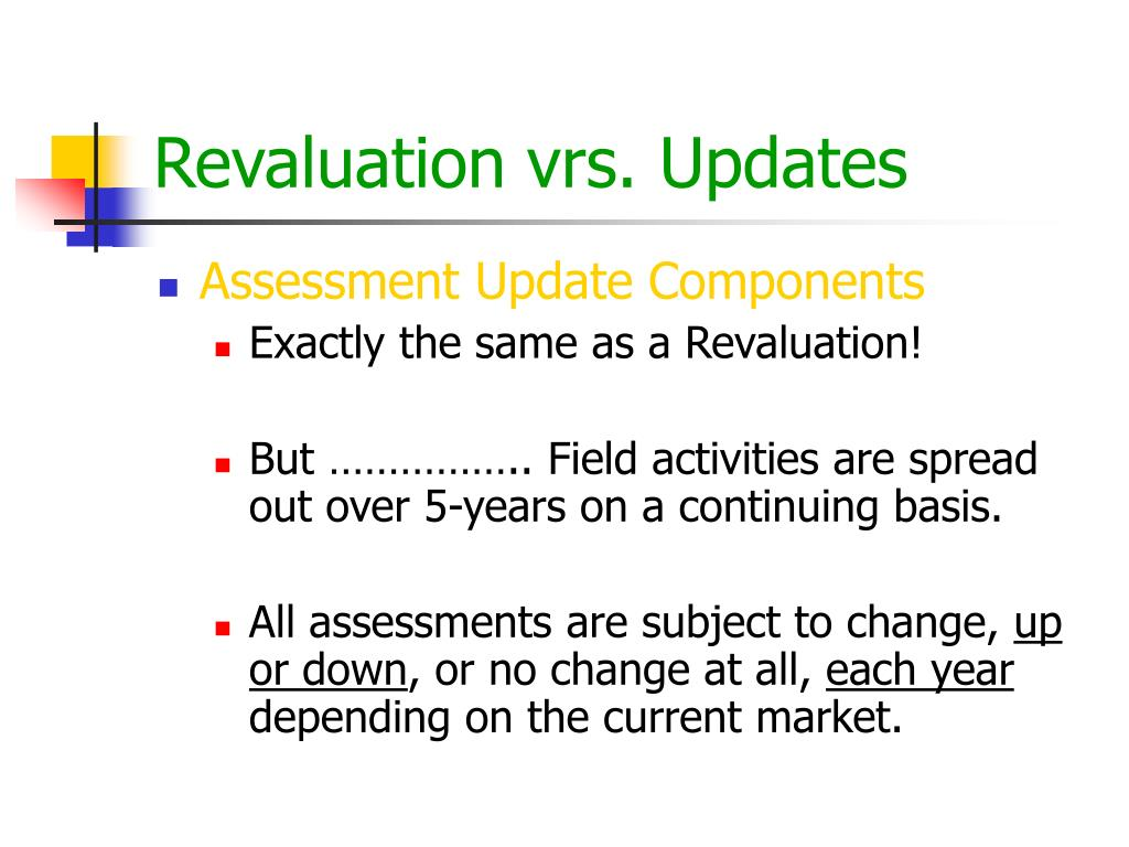 Revaluation vrs. Updates