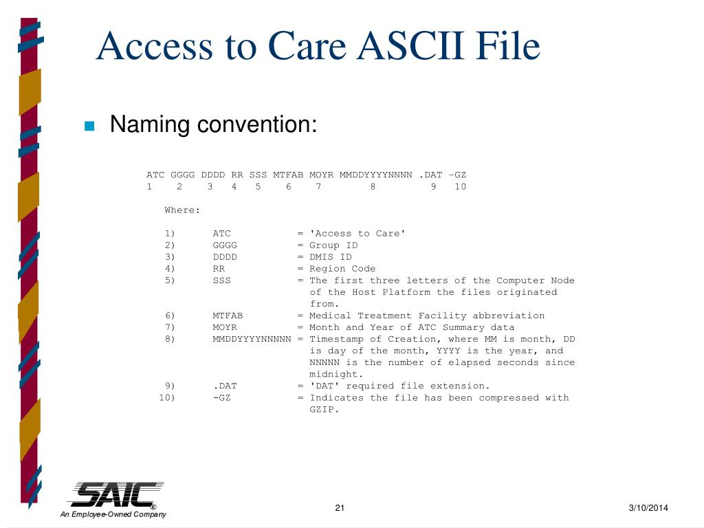 Access to Care ASCII File
