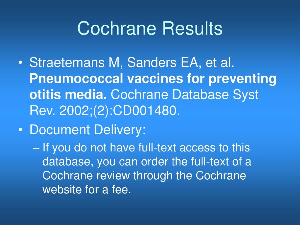 Cochrane Results