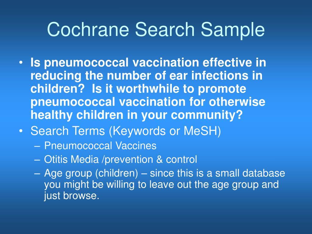 Cochrane Search Sample
