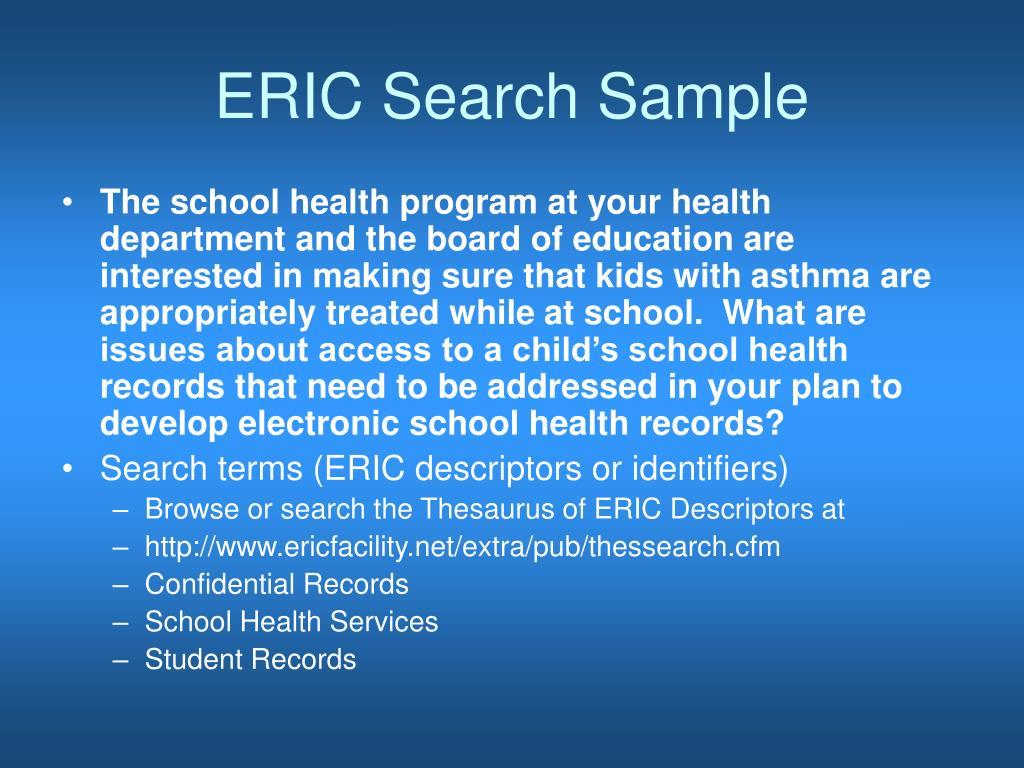ERIC Search Sample
