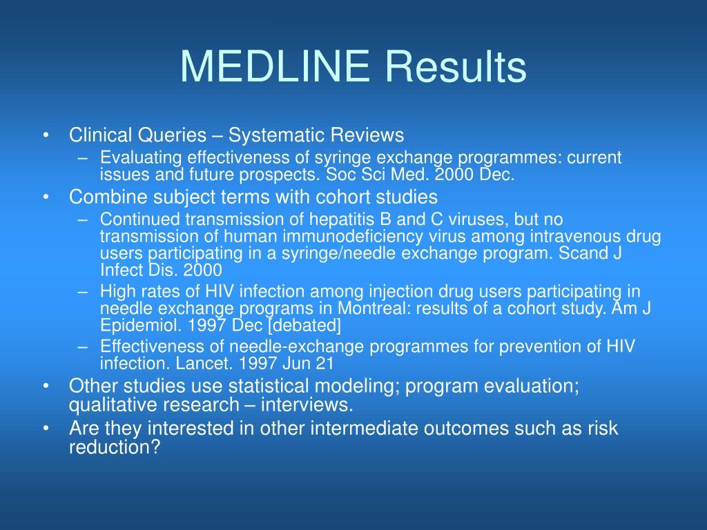 MEDLINE Results