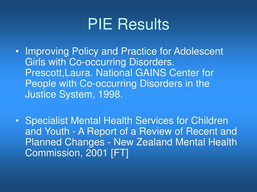 PIE Results