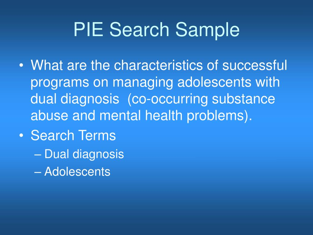 PIE Search Sample