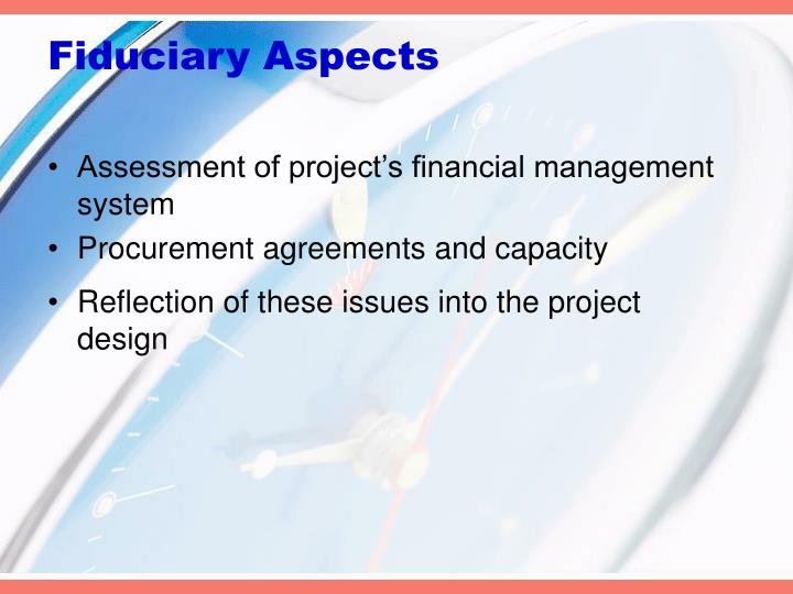 Fiduciary Aspects