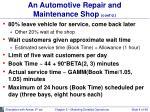 an automotive repair and maintenance shop cont d