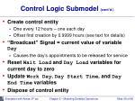 control logic submodel cont d