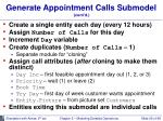 generate appointment calls submodel cont d