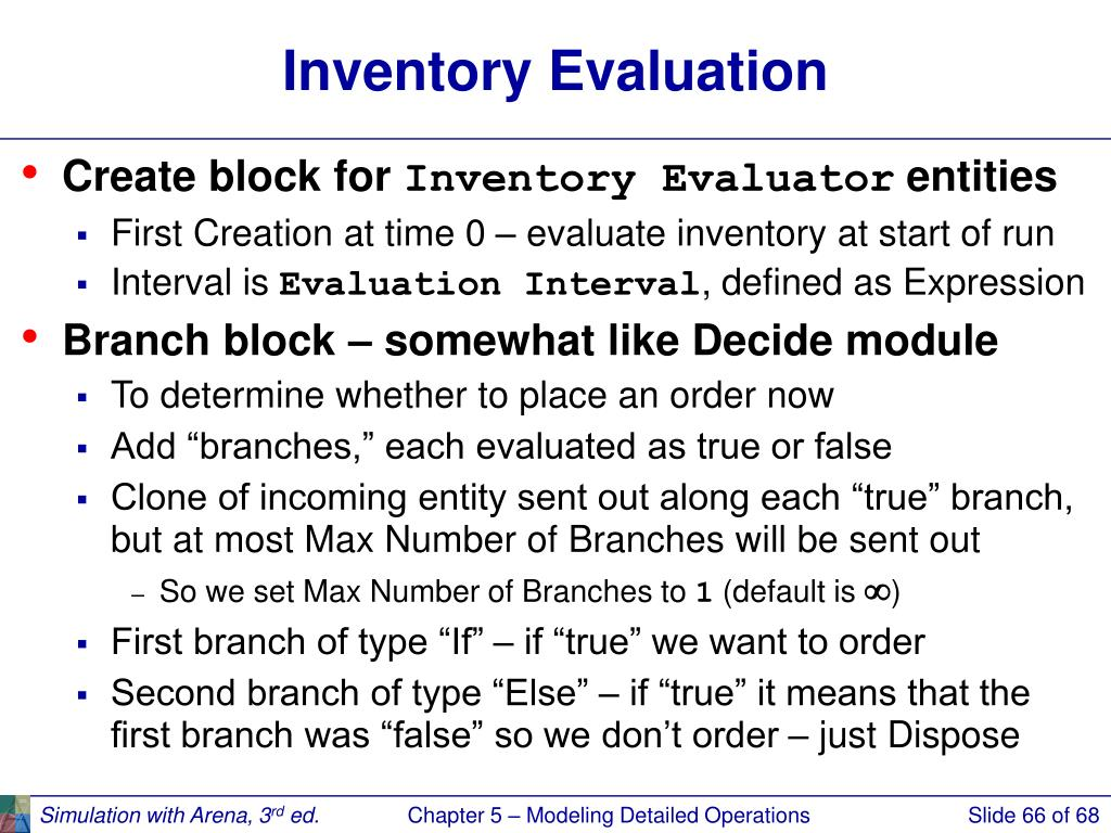 Inventory Evaluation