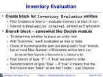 inventory evaluation