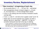 inventory review replenishment