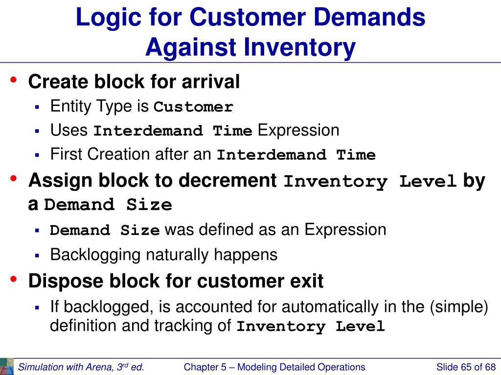 Logic for Customer Demands