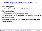 make appointment submodel cont d