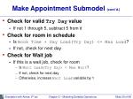 make appointment submodel cont d29