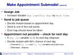 make appointment submodel cont d30