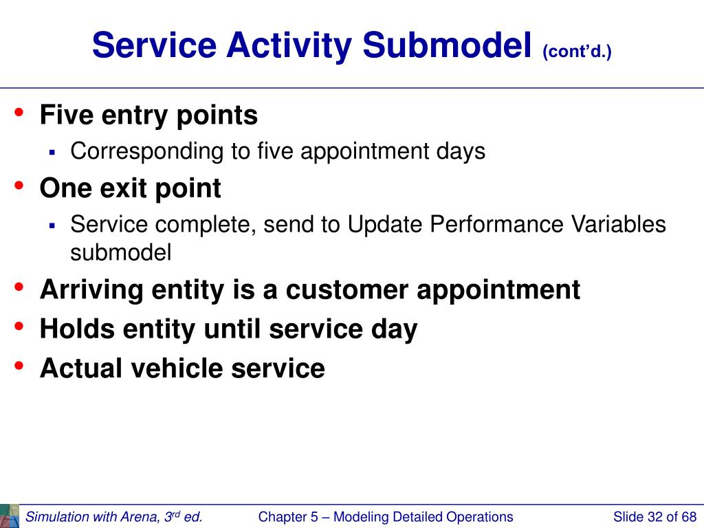 Service Activity Submodel
