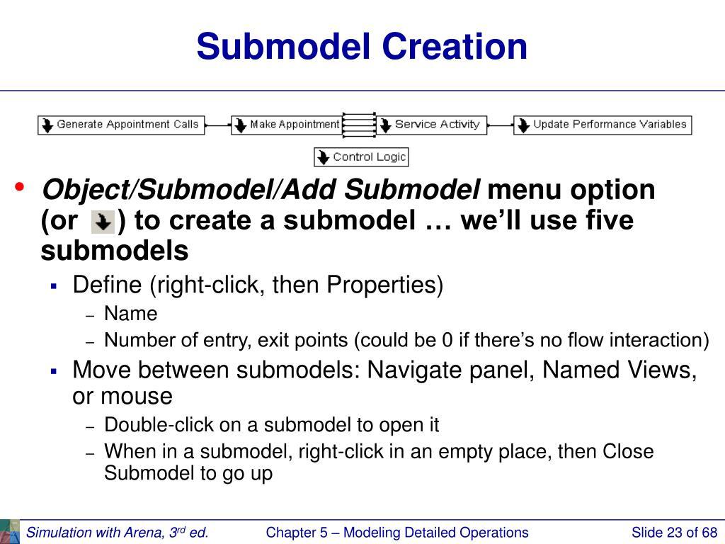 Submodel Creation