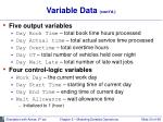 variable data cont d