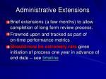 administrative extensions