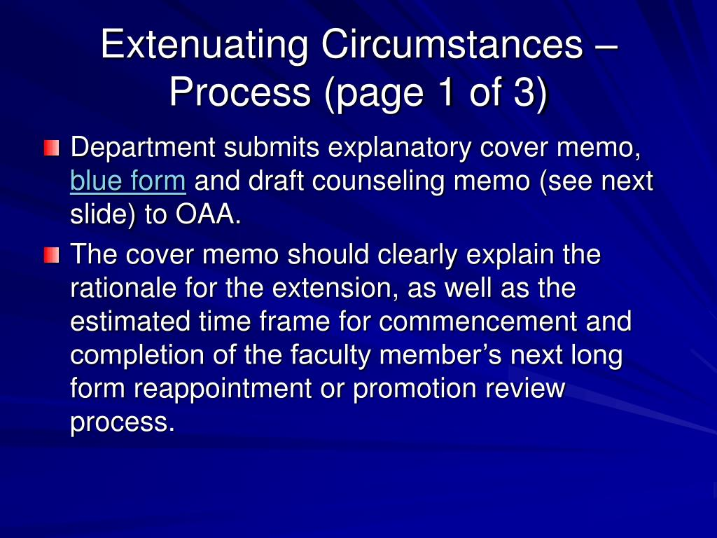 Extenuating Circumstances – Process (page 1 of 3)