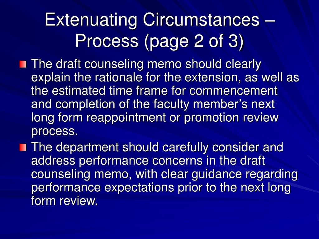 Extenuating Circumstances – Process (page 2 of 3)