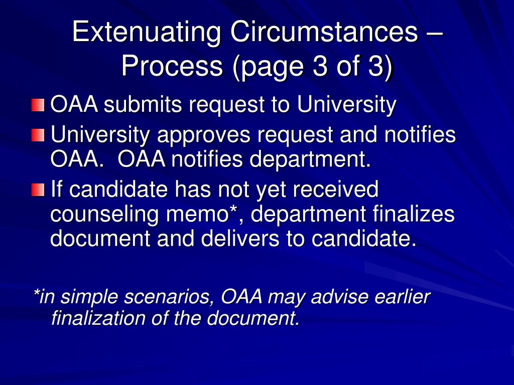 Extenuating Circumstances – Process (page 3 of 3)