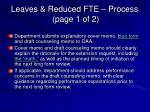 leaves reduced fte process page 1 of 2