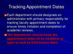 tracking appointment dates