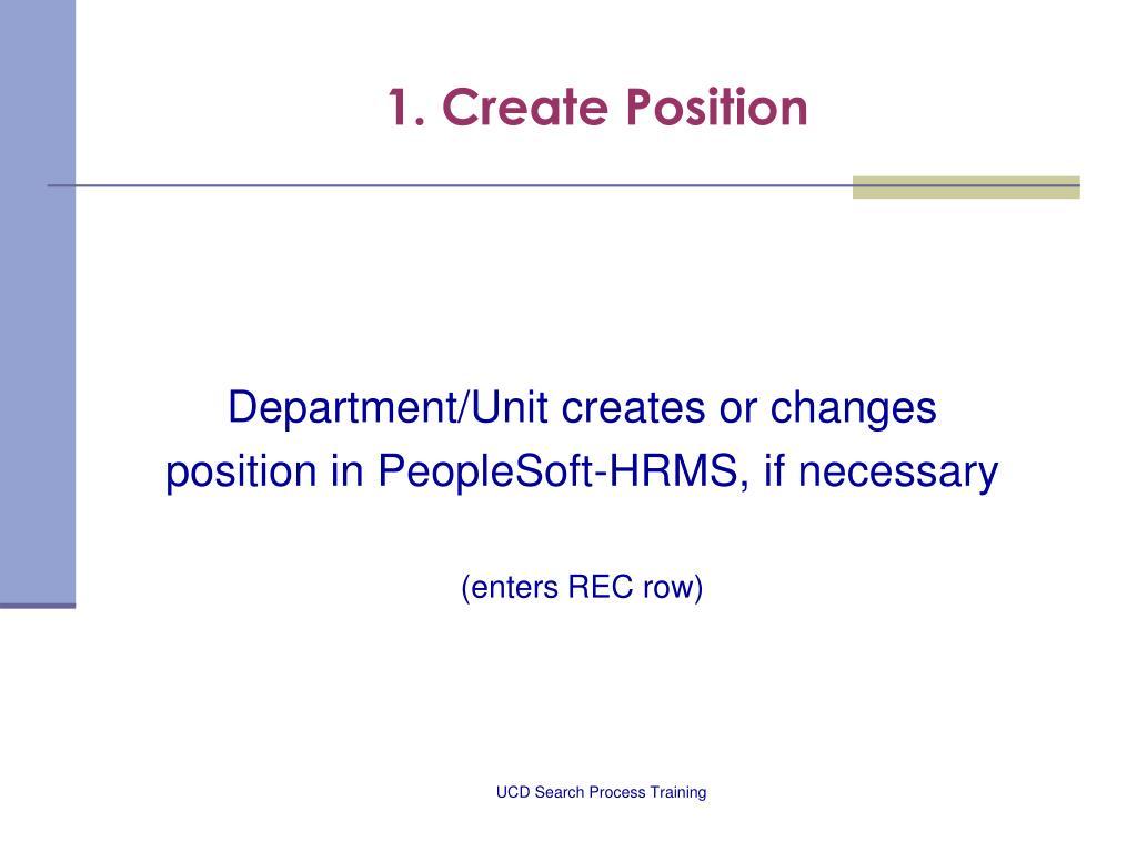 1. Create Position