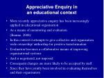 appreciative enquiry in an educational context
