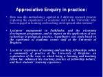 appreciative enquiry in practice