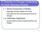 5 theories of change underlying ai from gervase bushe