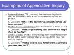 examples of appreciative inquiry