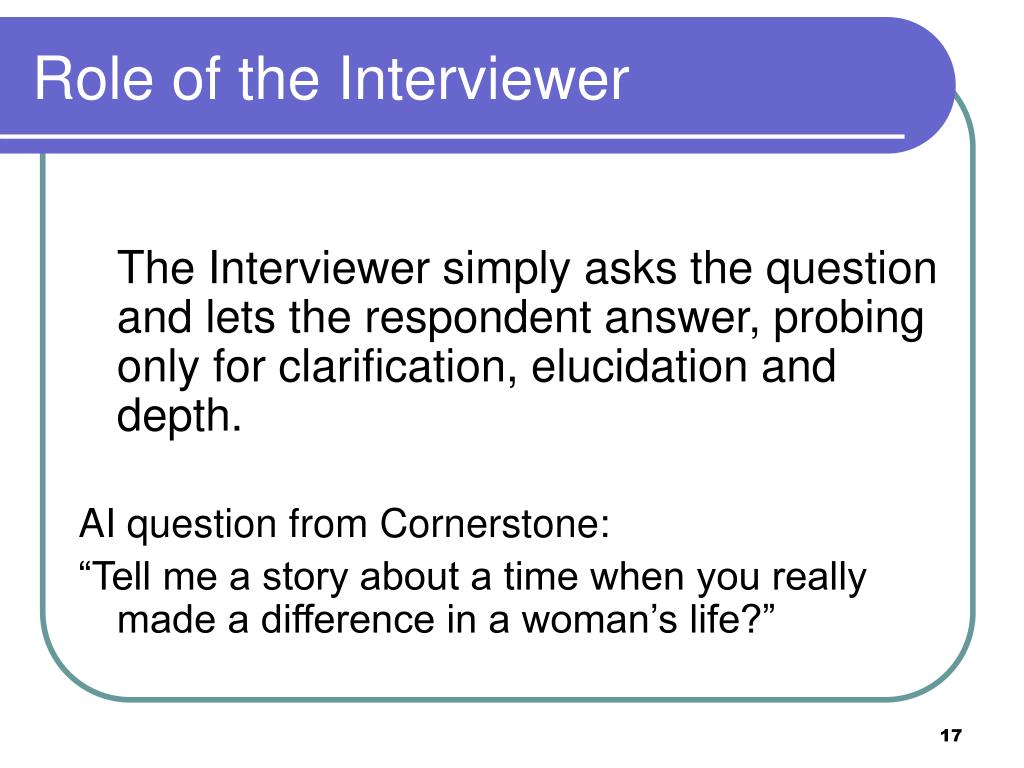 Role of the Interviewer
