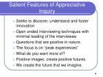 salient features of appreciative inquiry