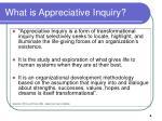 what is appreciative inquiry